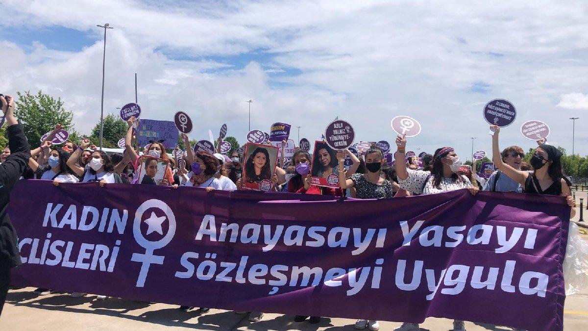 Kadınlardan 'İstanbul Sözleşmesi'nden vazgeçmiyoruz' mitingi
