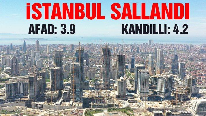 İstanbul deprem ile sallandı