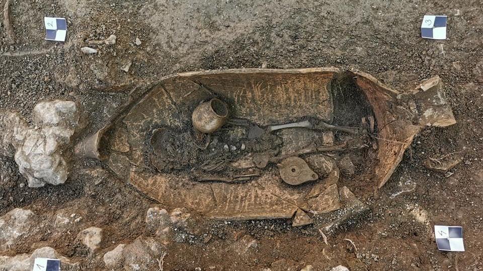Hırvat sarayının bahçesinde 4. yüzyıla ait kalıntılar keşfedildi