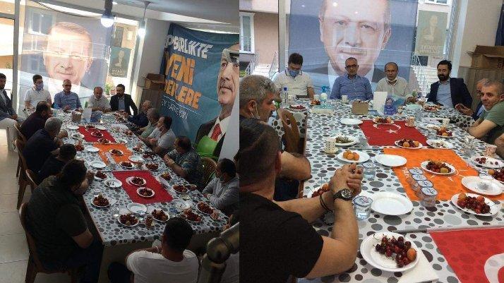 AKP'liler Türk Bayrağı'nı sofra bezi yaptı