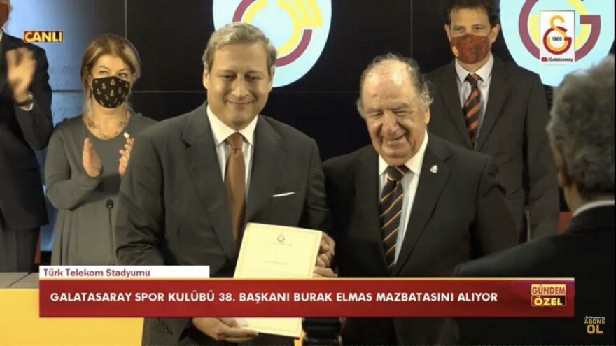 Galatasaray'da başkan Burak Elmas ve yönetimi mazbatalarını aldı