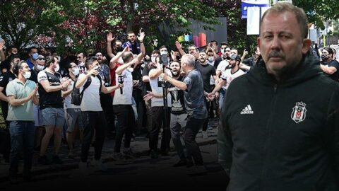 Beşiktaş taraftarı Sergen Yalçın'ın evine gitti!