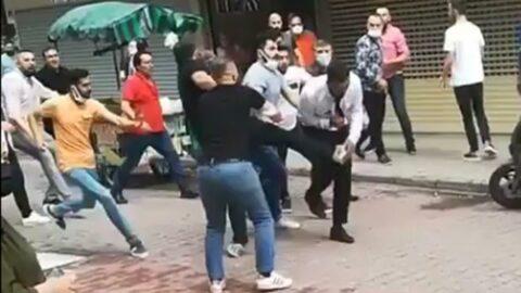 Kuyumcular sokak ortasında birbirine girdi