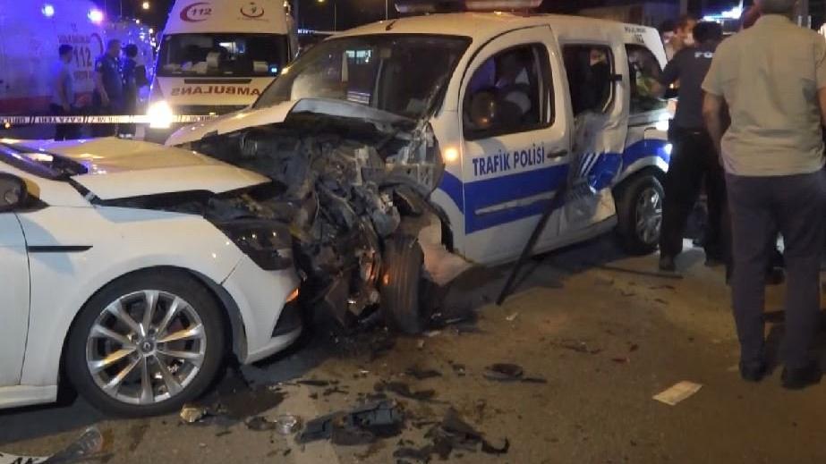 Polis aracına çarpan alkollü sürücünün savunması pes dedirtti