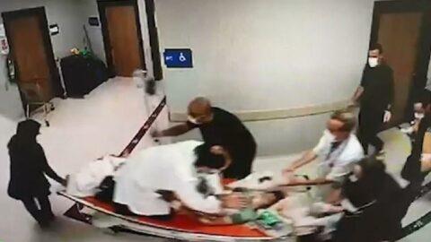 Kalbine demir saplanan çocuğa sedye üzerinde hayat kurtaran müdahale
