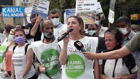 Kanal İstanbul protesto edildi