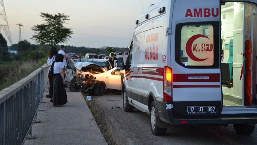Katliam gibi kaza: 3 ölü, 4 yaralı