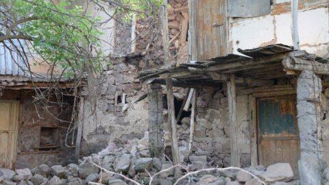Bingöl'deki depremde, Elazığ'ın 5 köyünde bazı evler hasar gördü