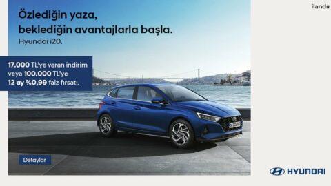 Hyundai i20, %0,99 faiz.