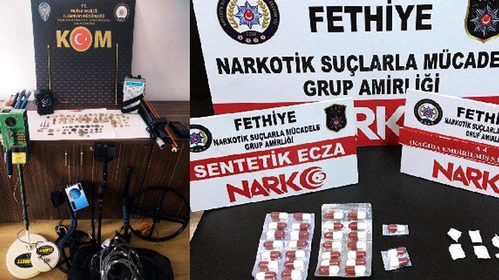 Muğla'da uyuşturucu ve kaçak içki operasyonunda 10 tutuklama