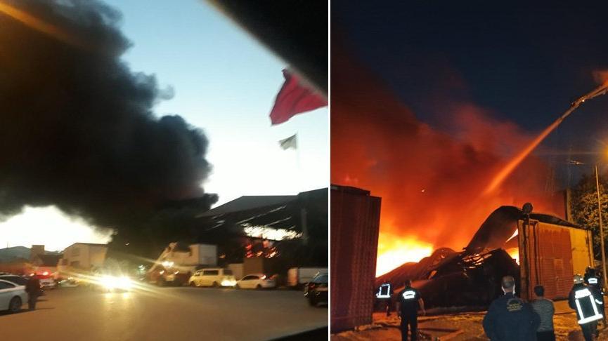 Ankara'da atık dönüşüm tesisinde çıkan yangın korkuttu