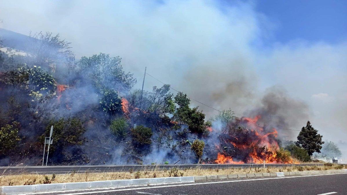 Muğla'daki orman yangınında evler boşaltıldı