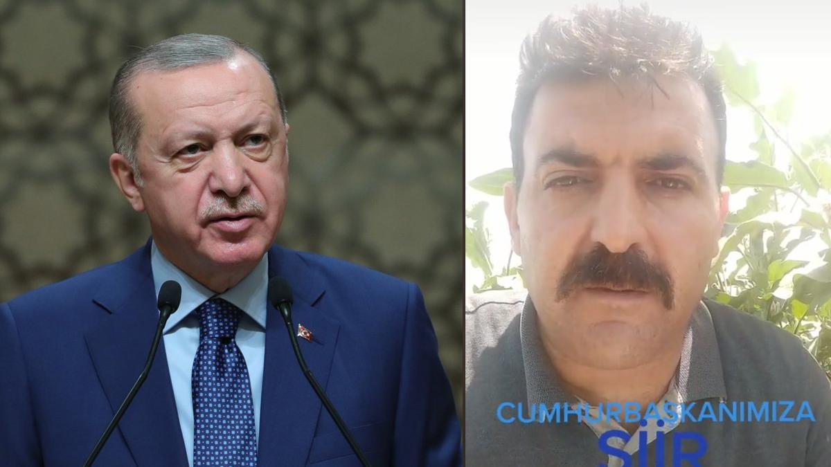 Cumhurbaşkanı Erdoğan'a şiirle seslendi: Nasıl olacak söyle Recep Emmi