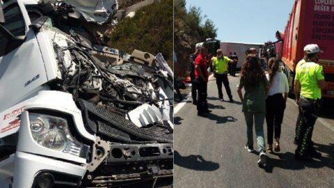 Mersin'de TIR ile yolcu otobüsü çarpıştı: 16 yaralı