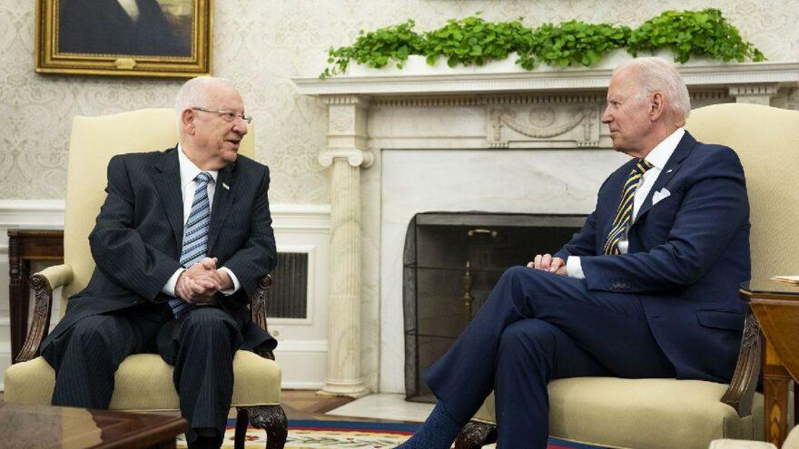 ABD Başkanı Biden İsrail Cumhurbaşkanı Rivlin'i ağırladı