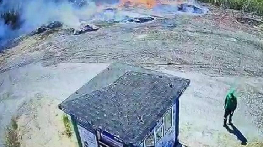 Bursa'da yangın: 1 gözaltı