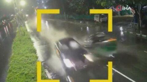 Alkollü sürücü dehşeti kamerada