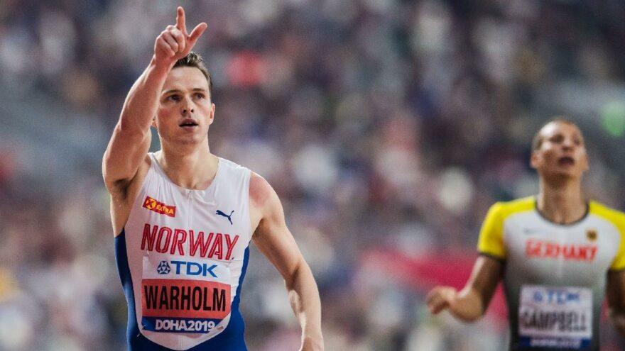 Norveçli atlet Karsten Warholm tarih yazdı! 29 yıllık dünya rekorunu kırdı!