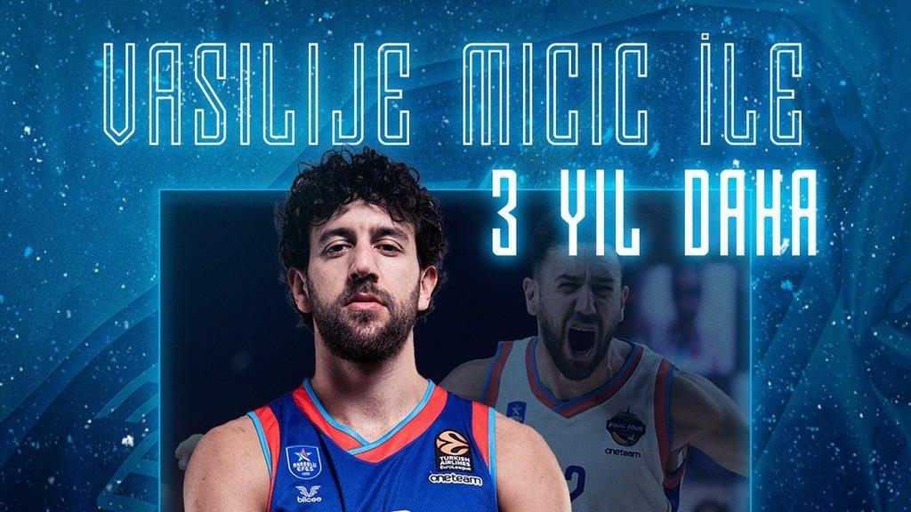 Anadolu Efes Vasilije Micic ile 3 yıllık sözleşme imzaladı