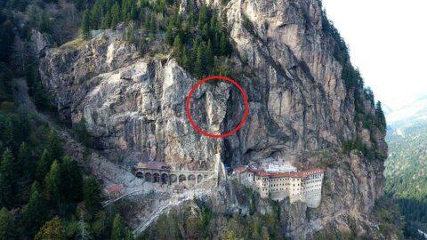 Sümela Manastırı'nda 360 tonluk tehlike