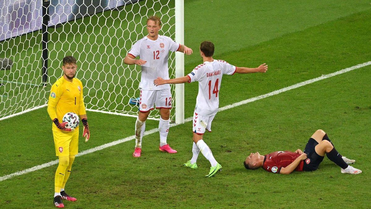Yarı final bileti Danimarka'nın! Çekya'ya şans tanımadılar... (EURO 2020)