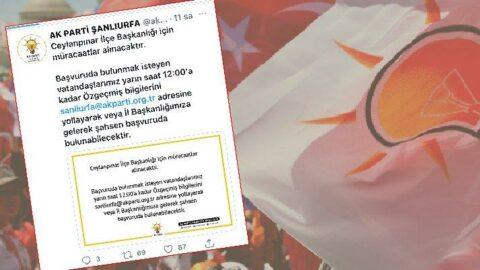 AKP ilçe başkanı bulabilmek için sosyal medyadan ilan verdi