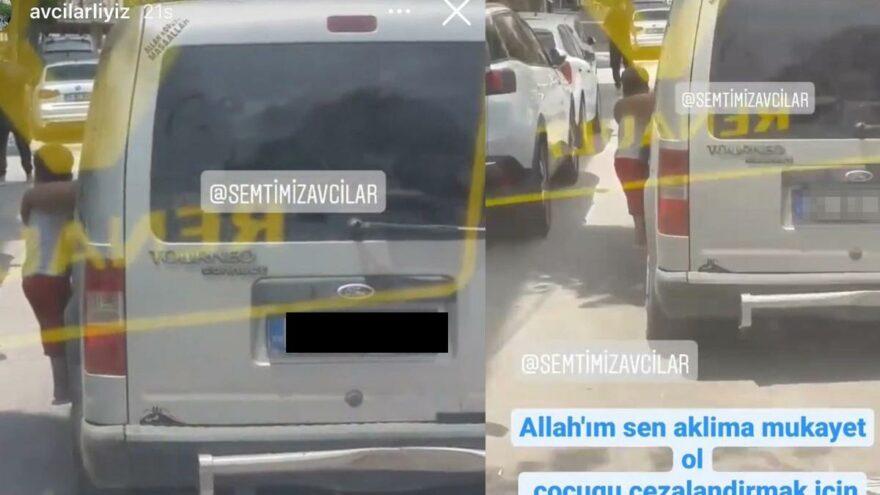 Çocuğunu seyir halindeki araçtan sarkıttı, ifadesi 'pes' dedirtti