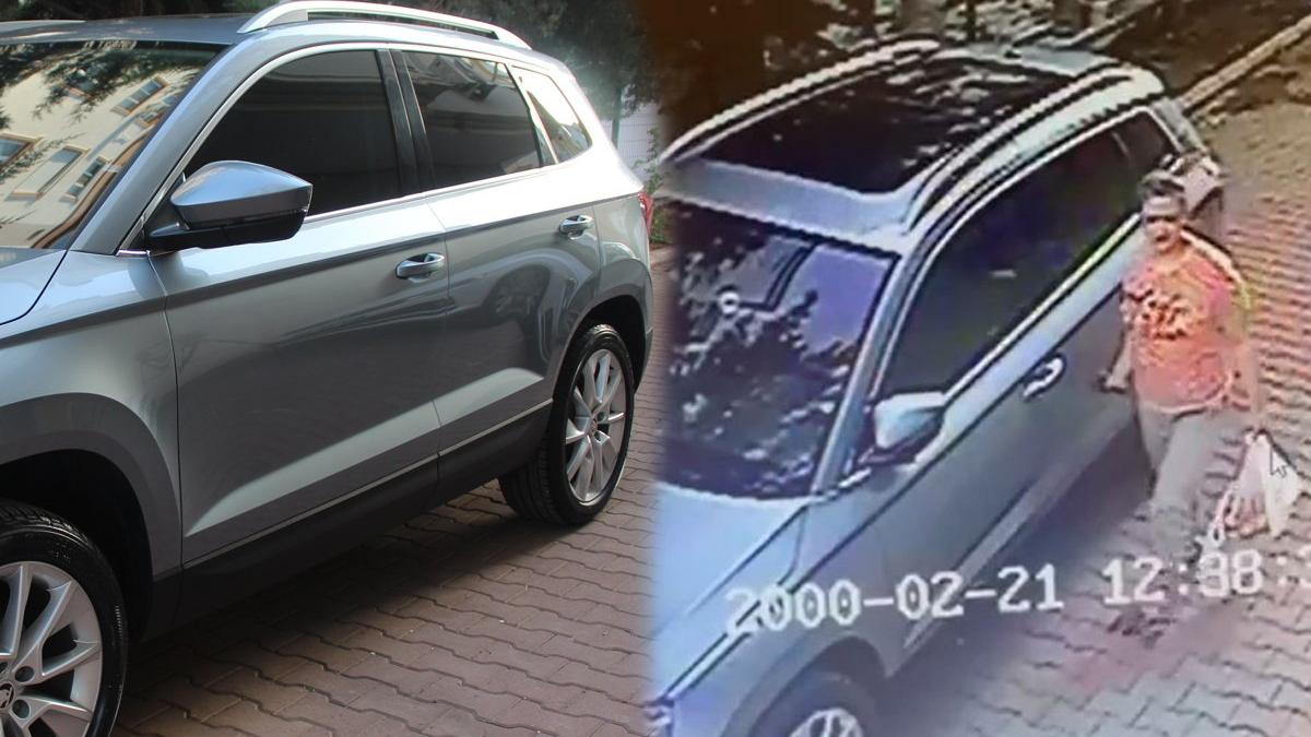 Komşusunun sıfır otomobilini çizerken güvenlik kamerasına yakalandı