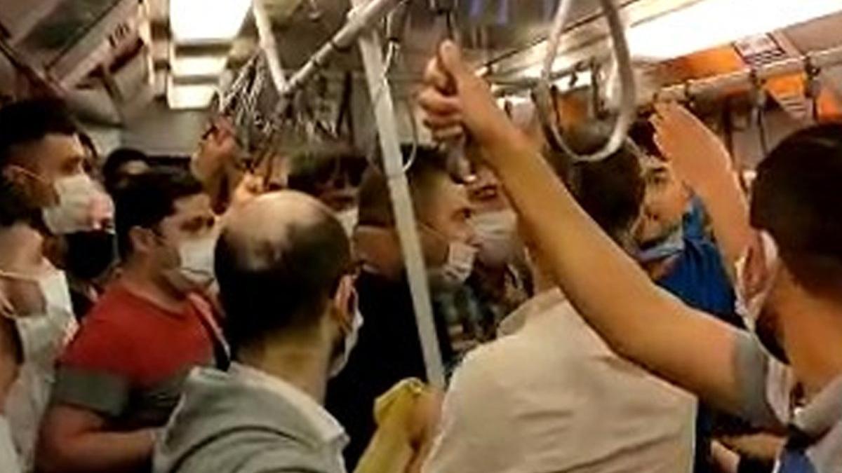 Metroda maske kavgası