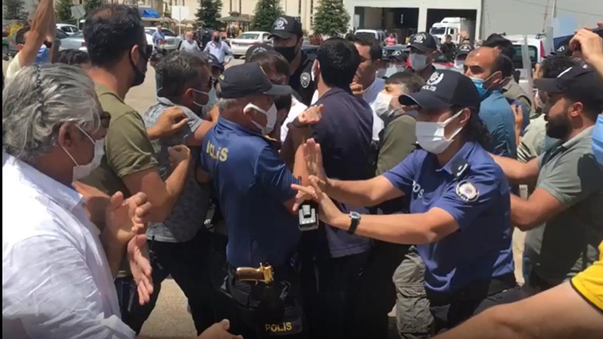 Gergerlioğlu için 'Adalet Nöbeti' tutmak isteyenlere polis müdahale etti