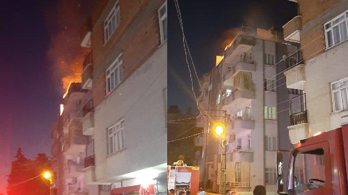 Eşiyle tartışıp evi yaktı, iki çocuğunu rehin aldı
