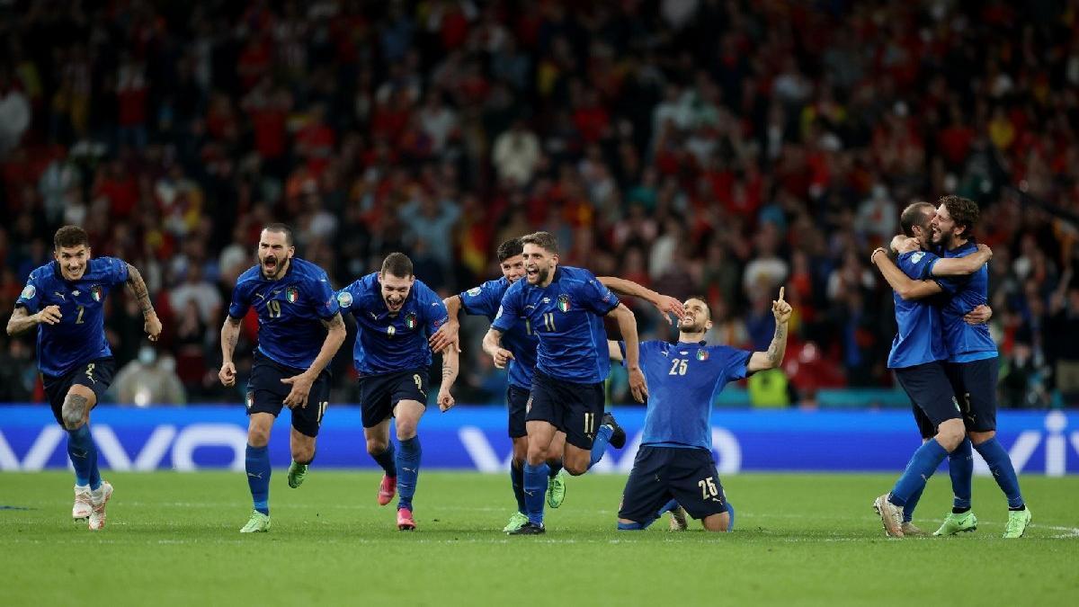 EURO 2020'nin ilk finalisti İtalya oldu! İspanya penaltılarla veda etti