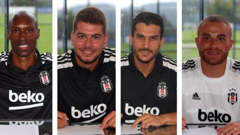 Beşiktaş'ta Gökhan Töre, Atiba Hutchinson, Necip Uysal ve Utku Yuvakuran imzaladı