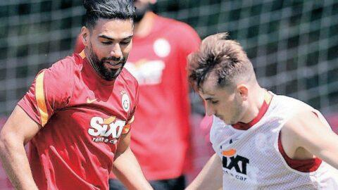 Falcao Galatasaray'ın sezon açılış kampına fırtına gibi başladı