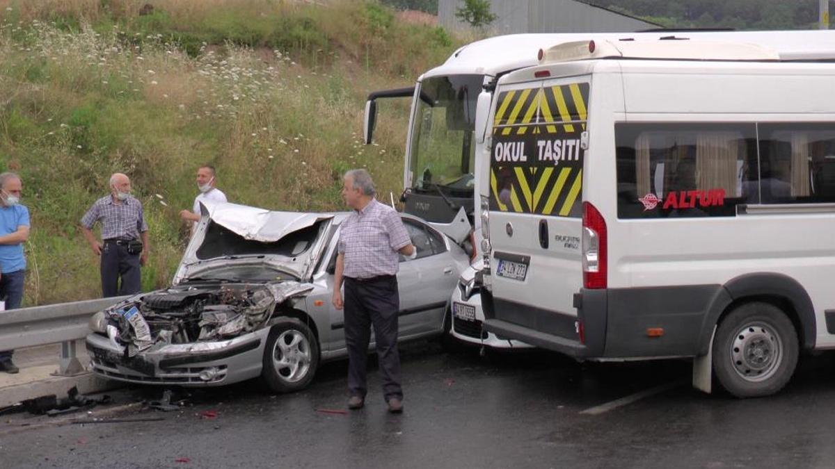 İstanbul'da yağış sonrası zincirleme kaza
