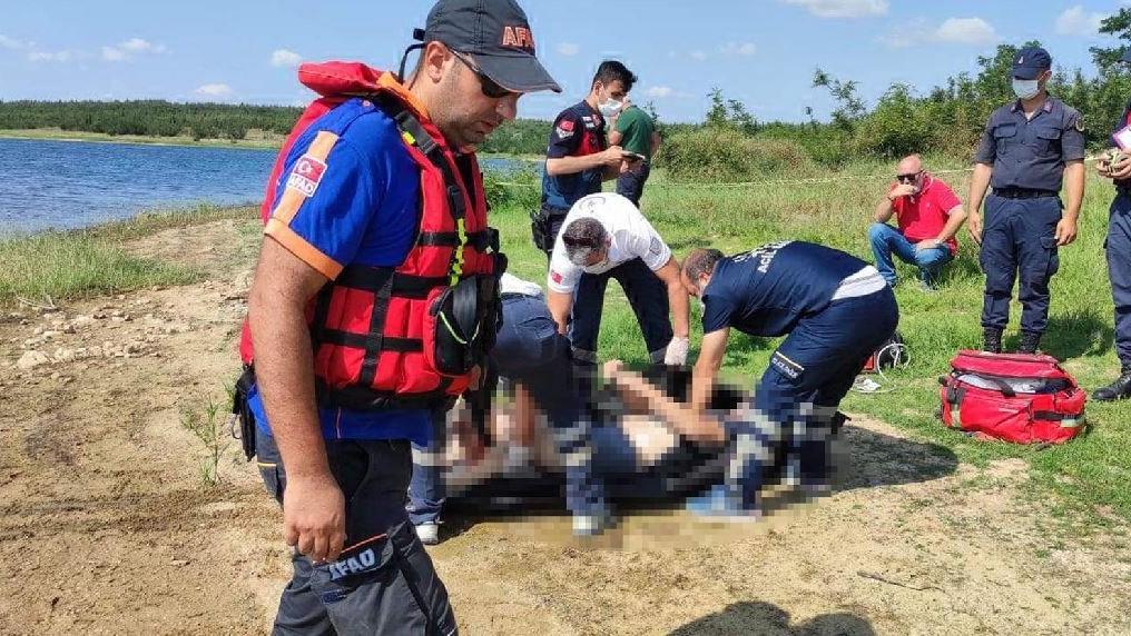 Balık tutarken suya düştü, ağa takıldı boğuldu
