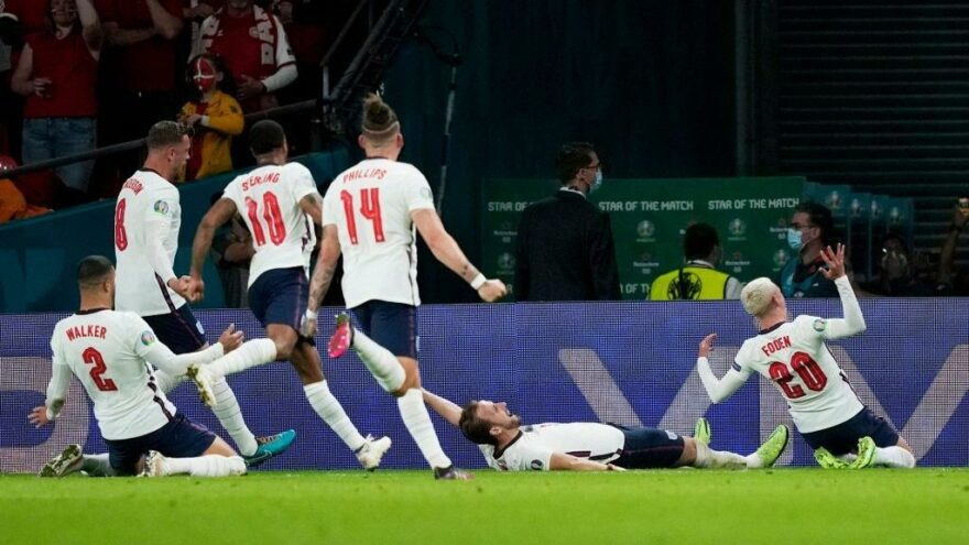 İngiltere, Danimarka'yı uzatmada devirip EURO 2020'de finale yükseldi
