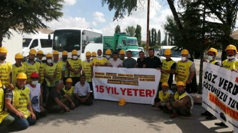 Ankara'nın girişinde direnen maden işçileri: Yaşananların sorumlusu sizlersiniz