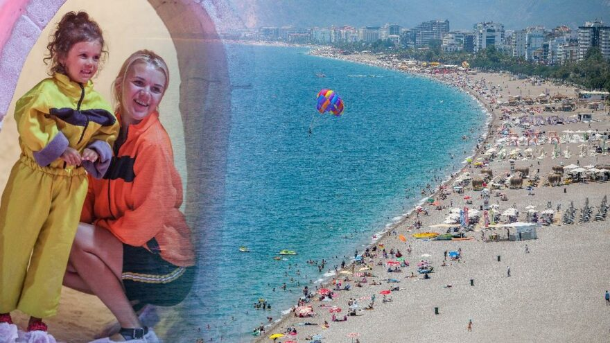 Antalya'da aynı anda iki mevsim