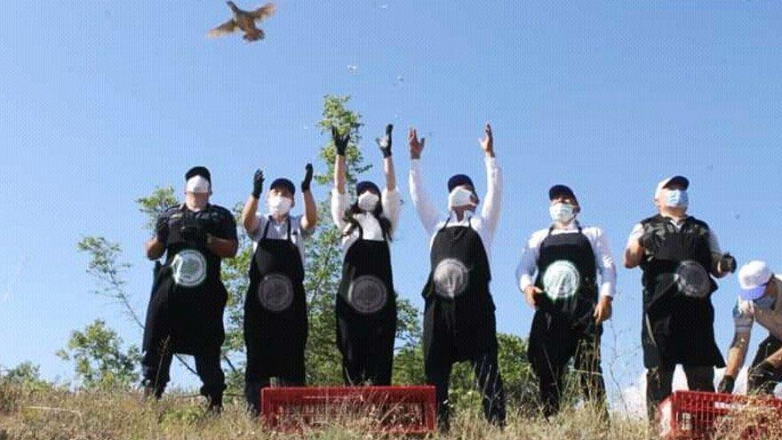 Denizli'de 600 kınalı keklik doğaya bırakıldı