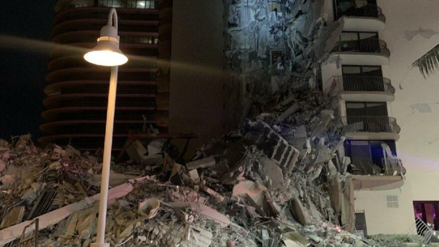 ABD'de çöken binada can kaybı yükseliyor
