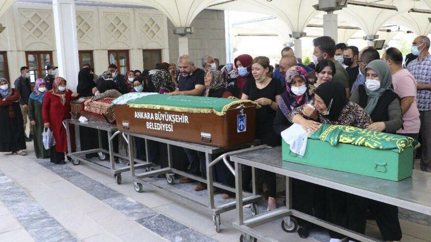Annesi tarafından öldürülen Meryem ve iki çocuğu toprağa verildi