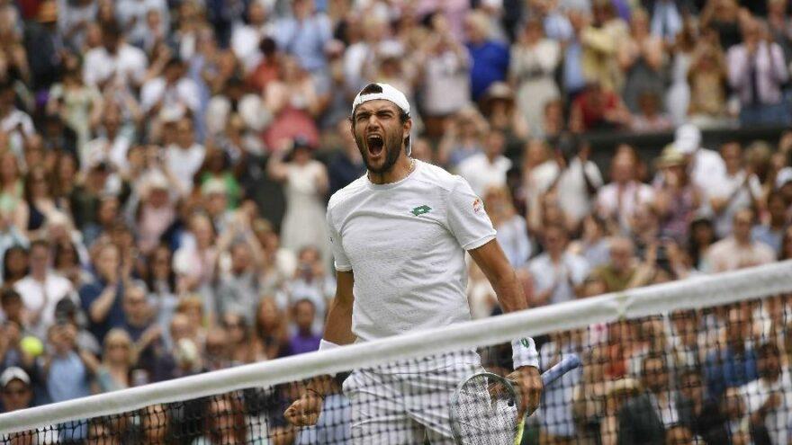 Matteo Berrettini Wimbledon'da finale çıktı, tarih yazdı!