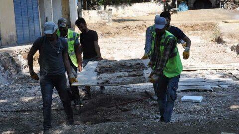Gaziantep'te bir evde bulunan mozaikler müzeye taşındı