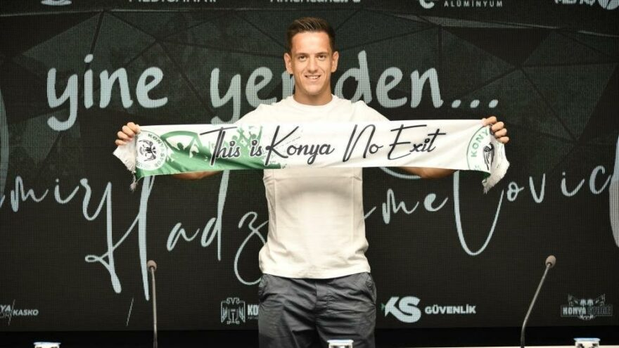 Hadziahmetovic'ten Konyaspor'a 2 yıllık imza daha
