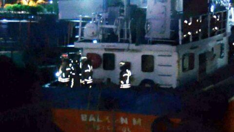 Maltepe'de yakıt tankerinde yangın