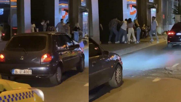 İstanbul'un göbeğinde kadına şiddet anları...