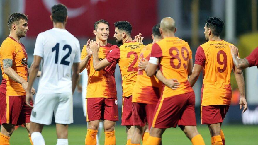 Galatasaray'dan bol gollü prova
