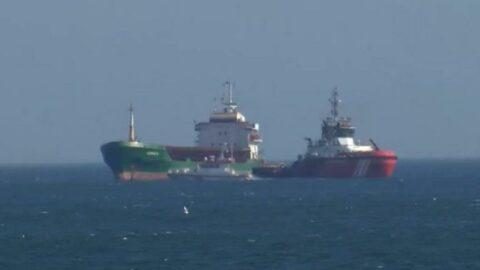 Haydarpaşa açıklarında gemi arızası