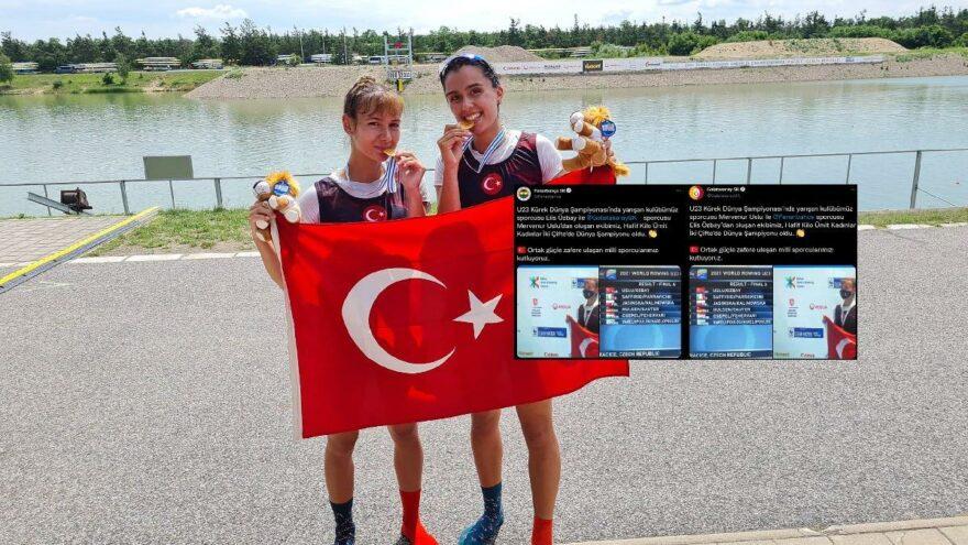 Galatasaray ve Fenerbahçe'den ortak şampiyonluk kutlaması